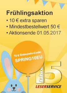 Frühlingsaktion 10€ Gutscheincode