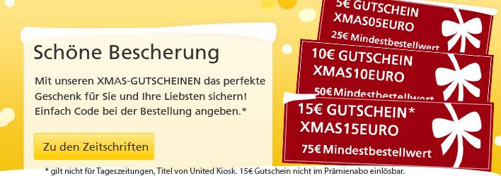 LESERSERVICE XMAS Gutscheincodes Dezember